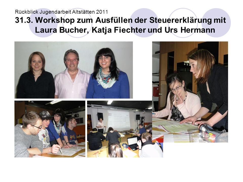 Rückblick Jugendarbeit Altstätten 2011 31. 3