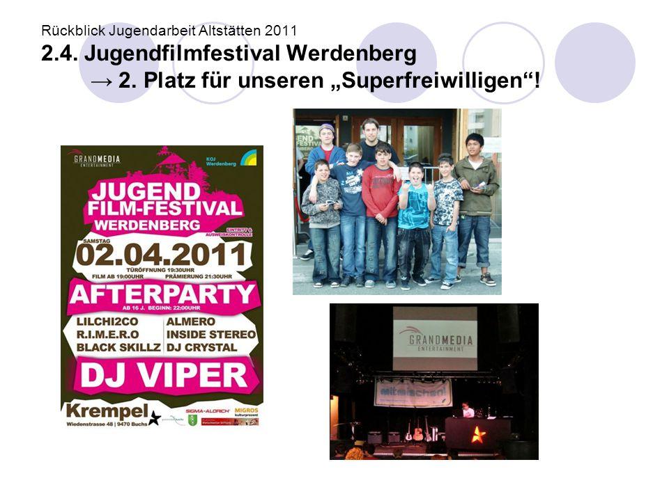 Rückblick Jugendarbeit Altstätten 2011 2. 4