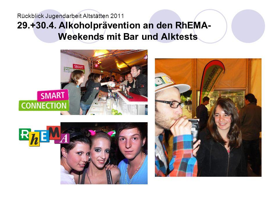 Rückblick Jugendarbeit Altstätten 2011 29. +30. 4