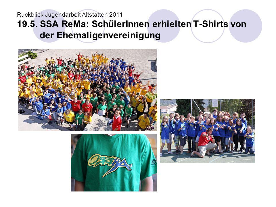 Rückblick Jugendarbeit Altstätten 2011 19. 5