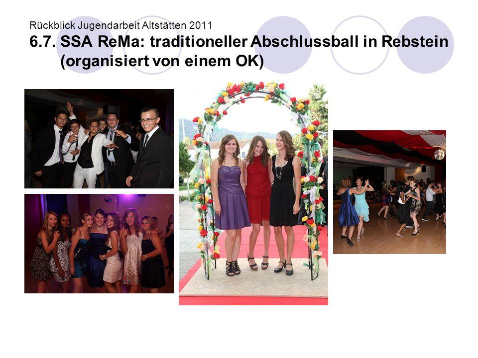 Rückblick Jugendarbeit Altstätten 2011 6. 7