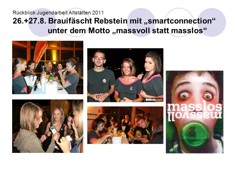 Rückblick Jugendarbeit Altstätten 2011 26. +27. 8