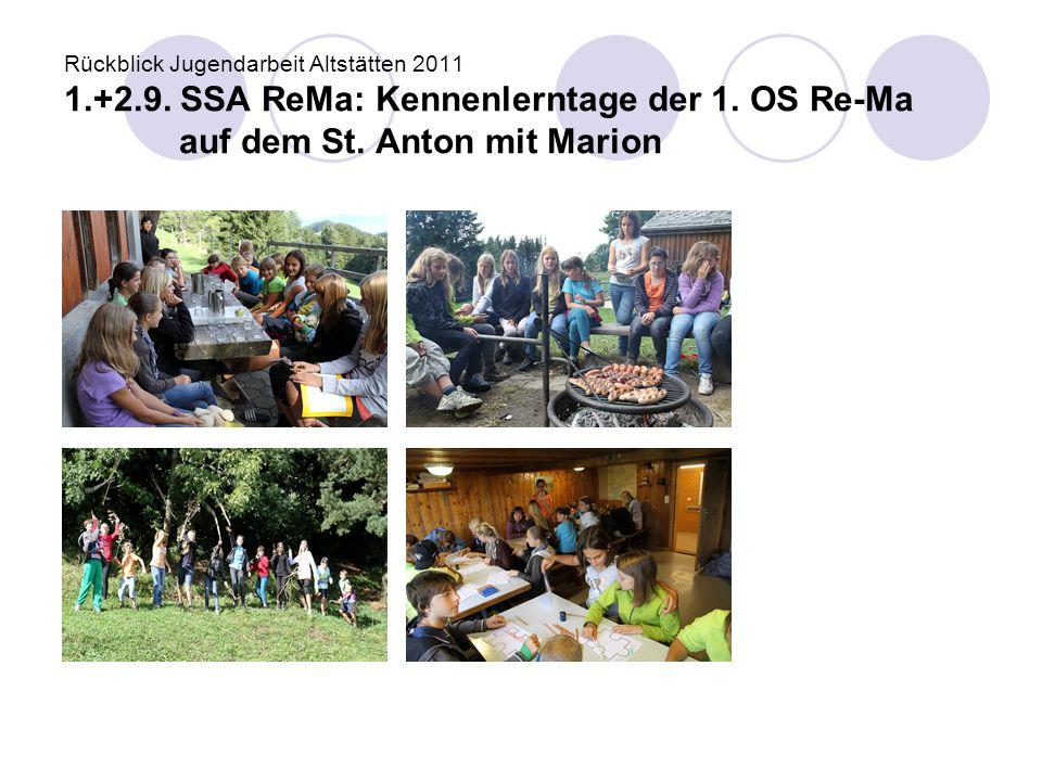 Rückblick Jugendarbeit Altstätten 2011 1. +2. 9