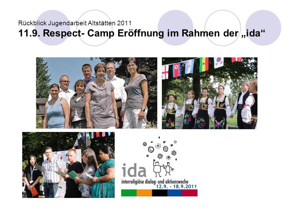 Rückblick Jugendarbeit Altstätten 2011 11. 9