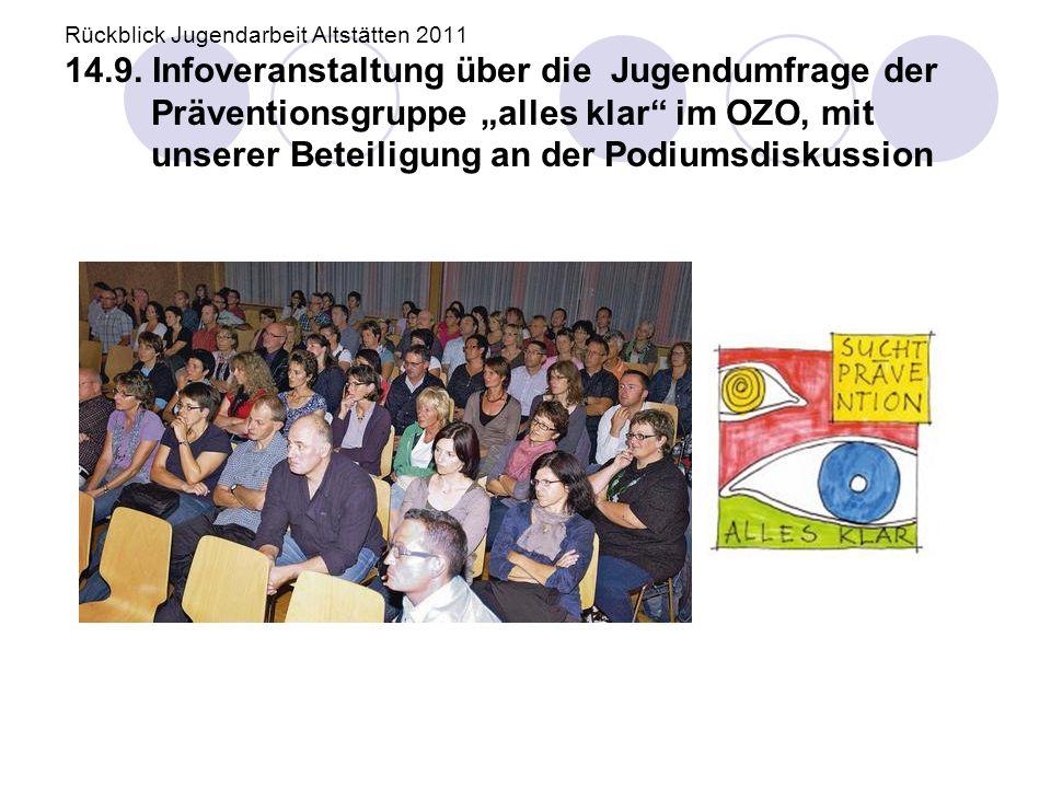 Rückblick Jugendarbeit Altstätten 2011 14. 9