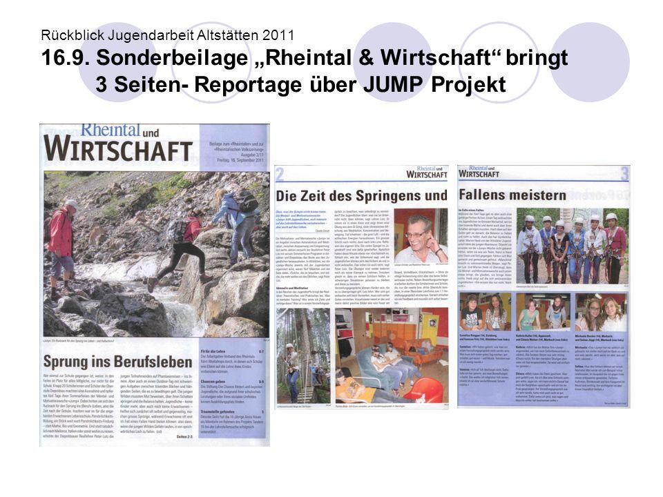 Rückblick Jugendarbeit Altstätten 2011 16. 9