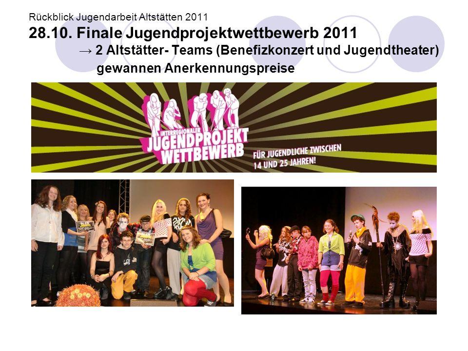 Rückblick Jugendarbeit Altstätten 2011 28. 10
