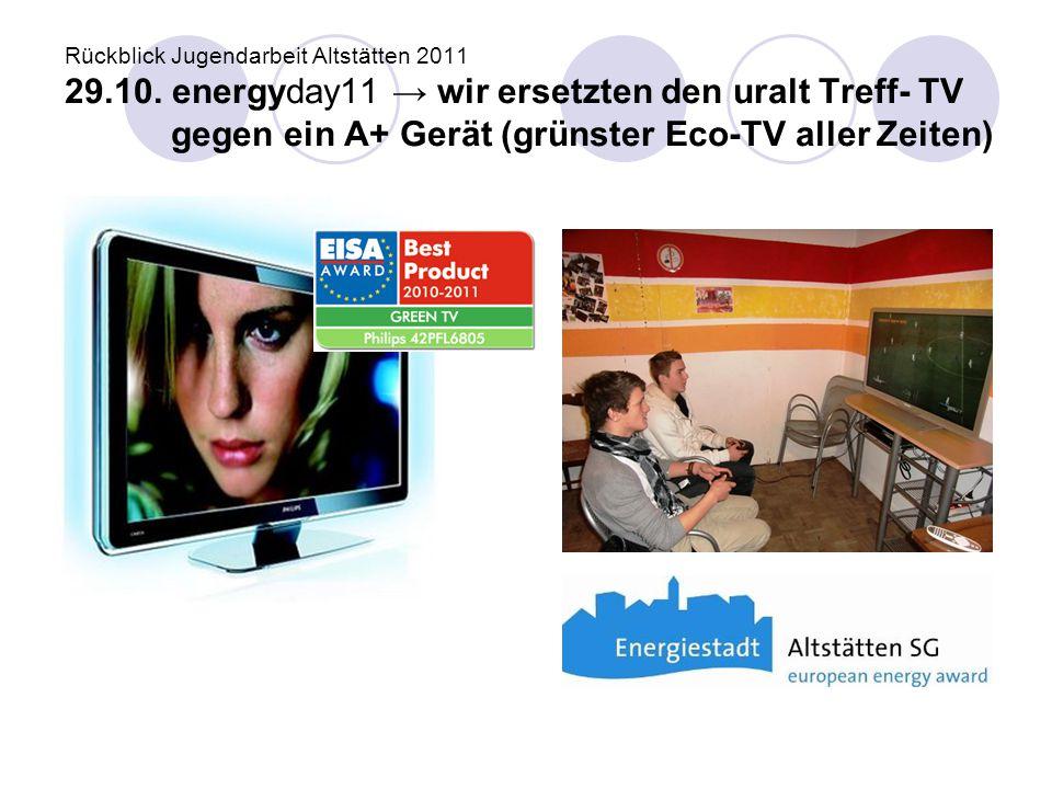 Rückblick Jugendarbeit Altstätten 2011 29. 10