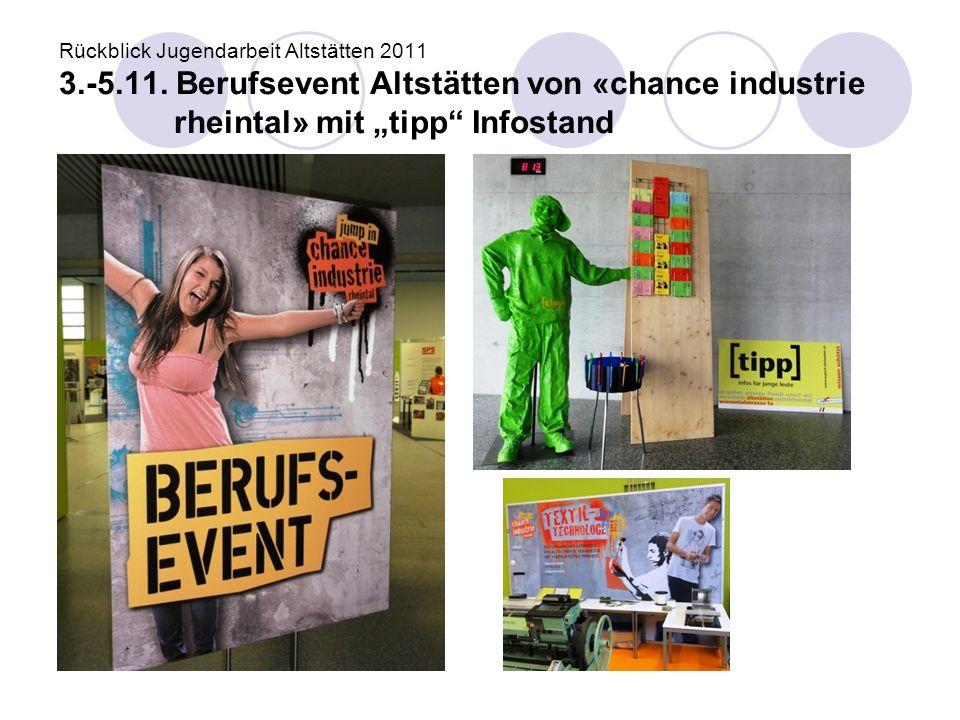 Rückblick Jugendarbeit Altstätten 2011 3. -5. 11