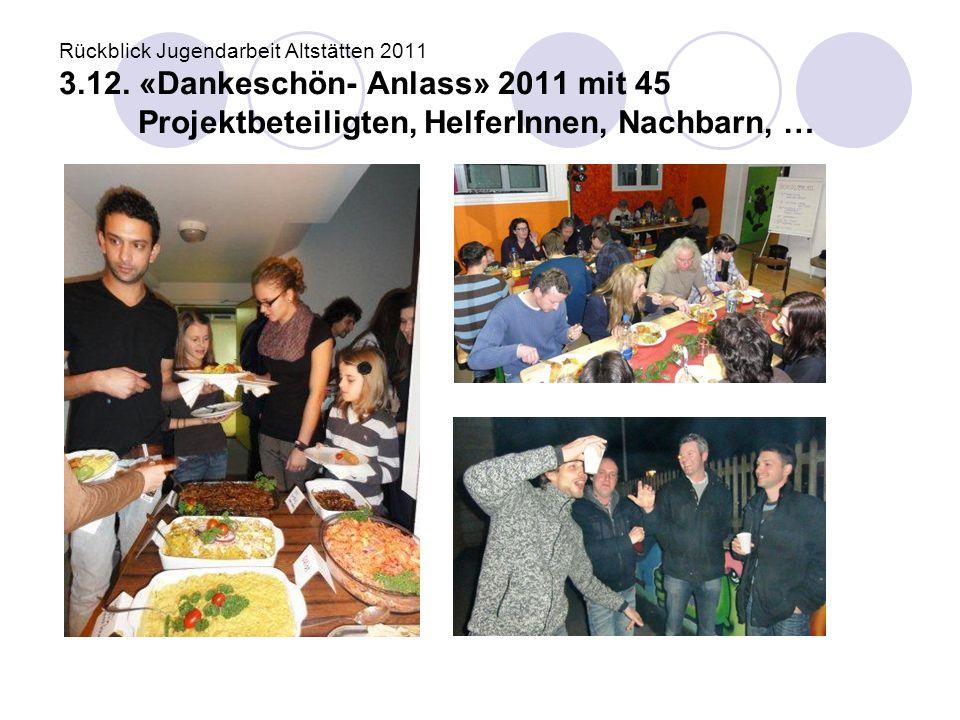 Rückblick Jugendarbeit Altstätten 2011 3. 12