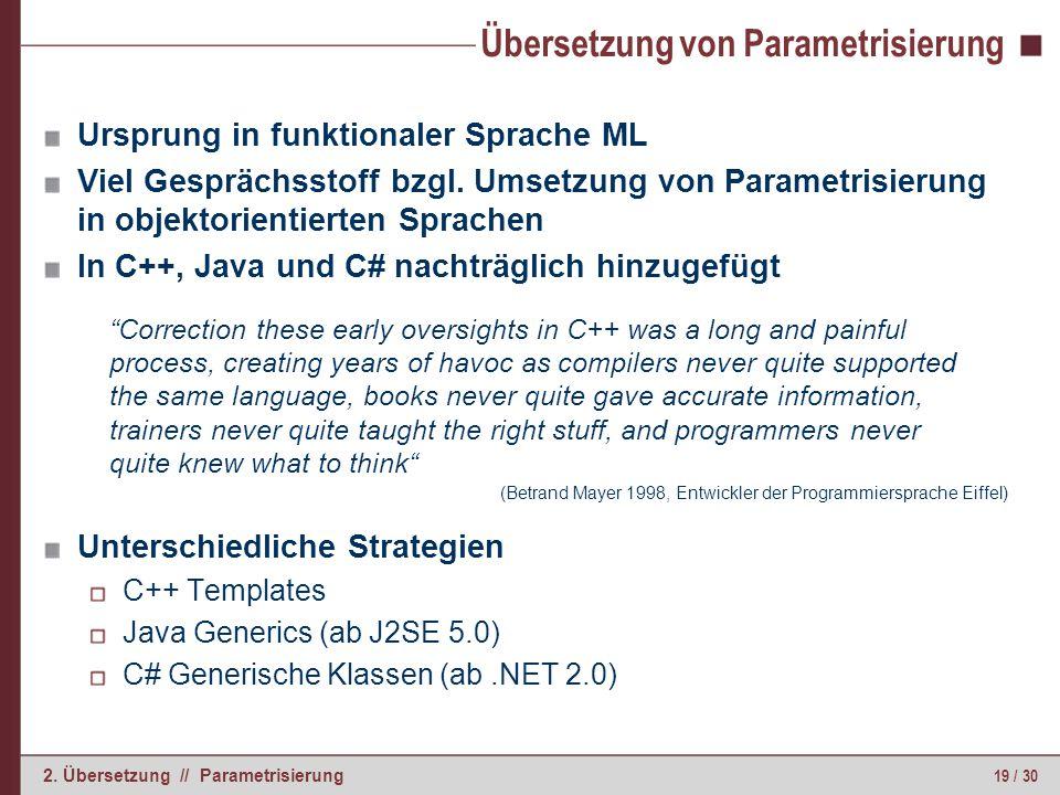 Parametrisierung in C++ (1)