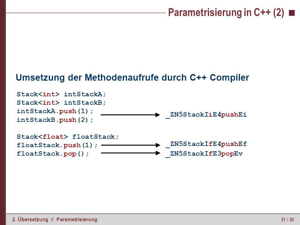 Parametrisierung in C++ (3)