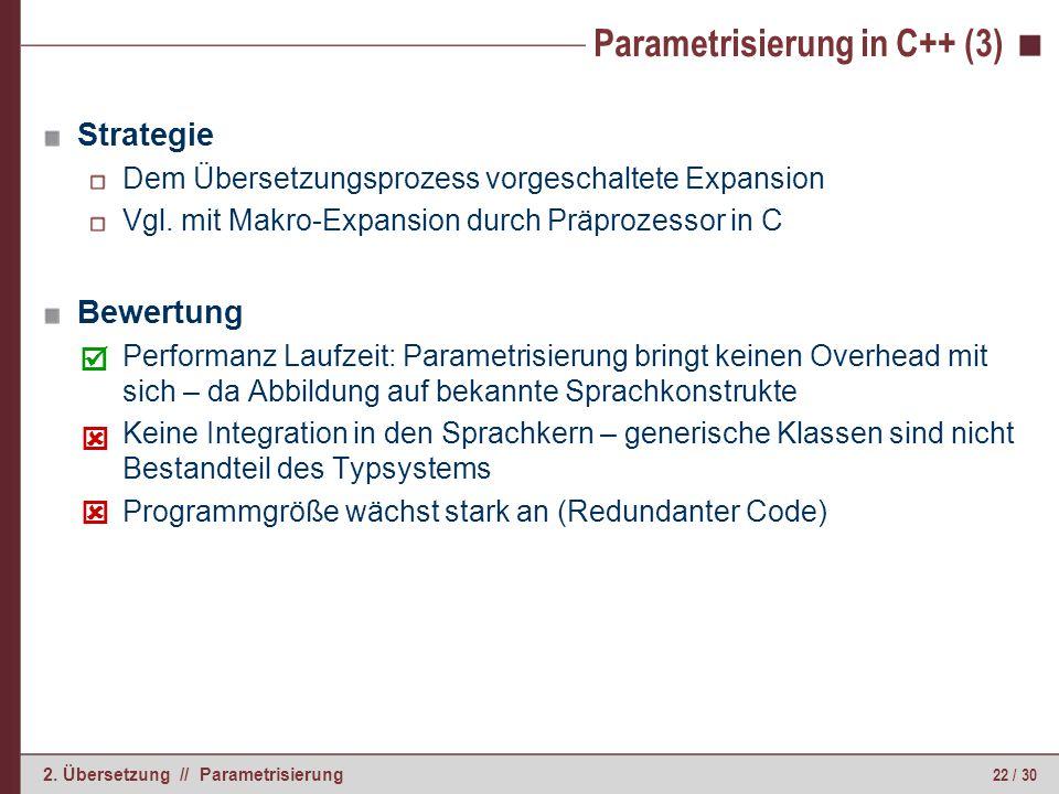 Parametrisierung in Java (1)