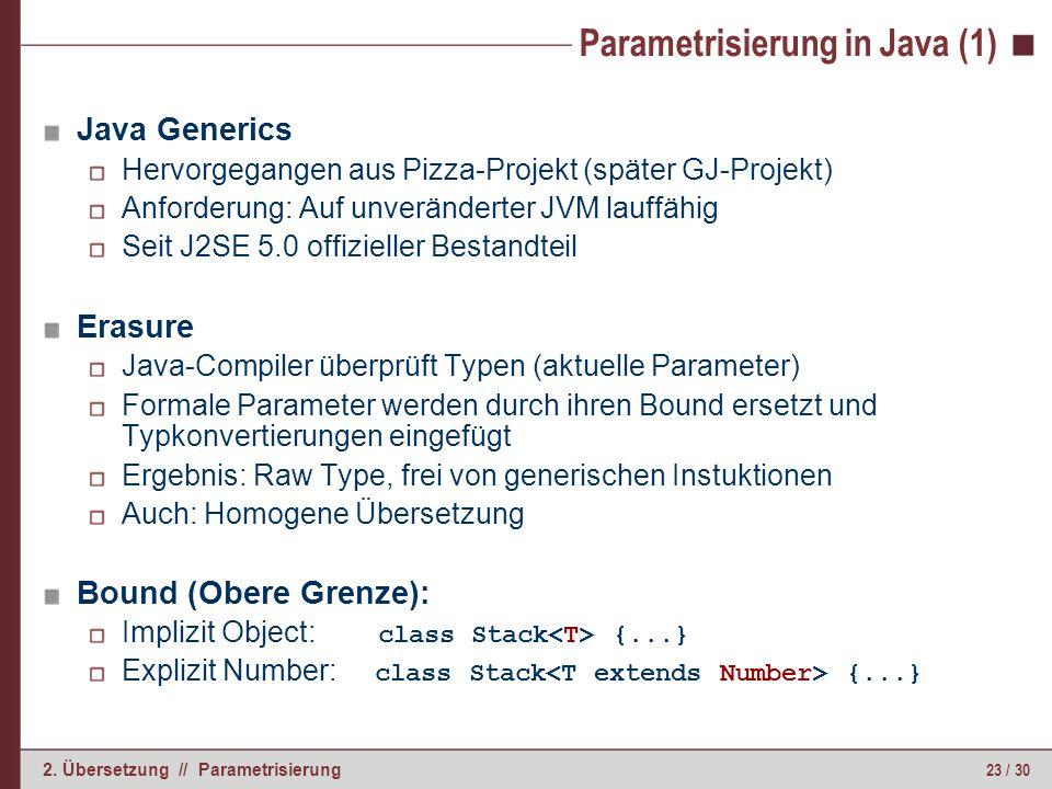 Parametrisierung in Java (2)