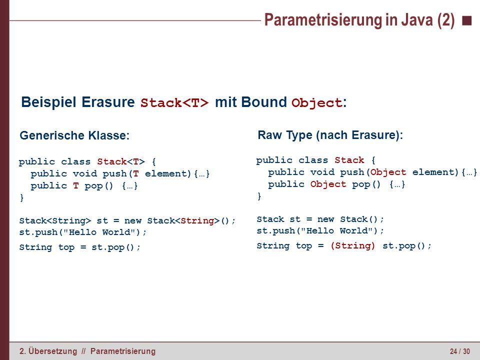 Parametrisierung in Java (3)