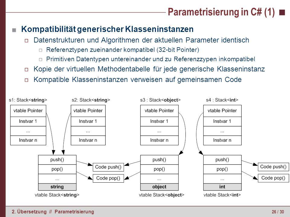 Parametrisierung in C# (2)