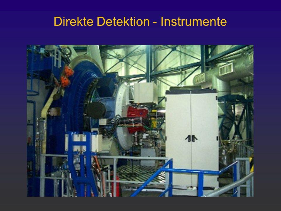 Direkte Detektion - Instrumente
