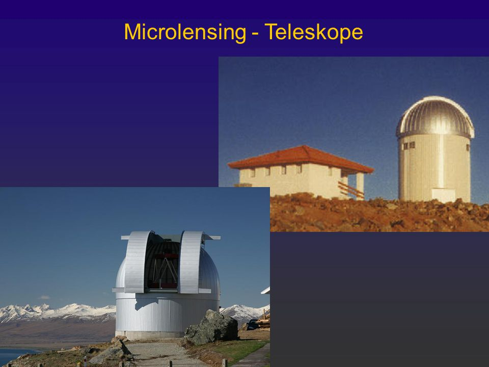 Microlensing - Teleskope