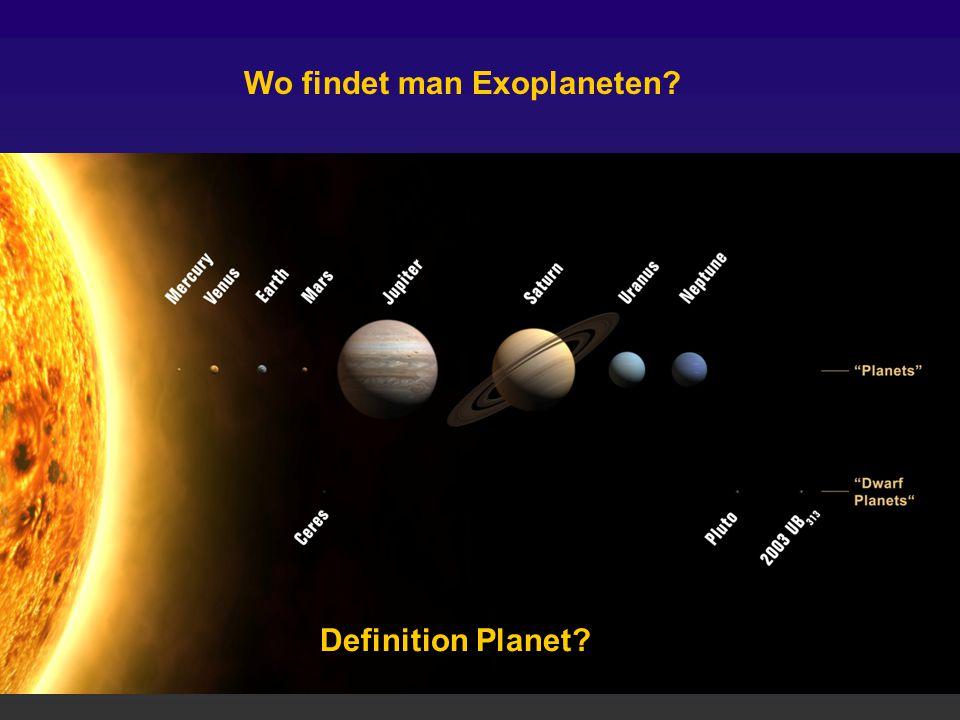 Wo findet man Exoplaneten