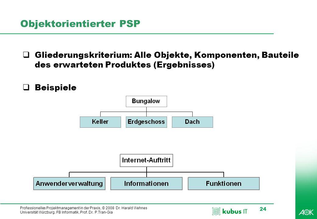 Objektorientierter PSP