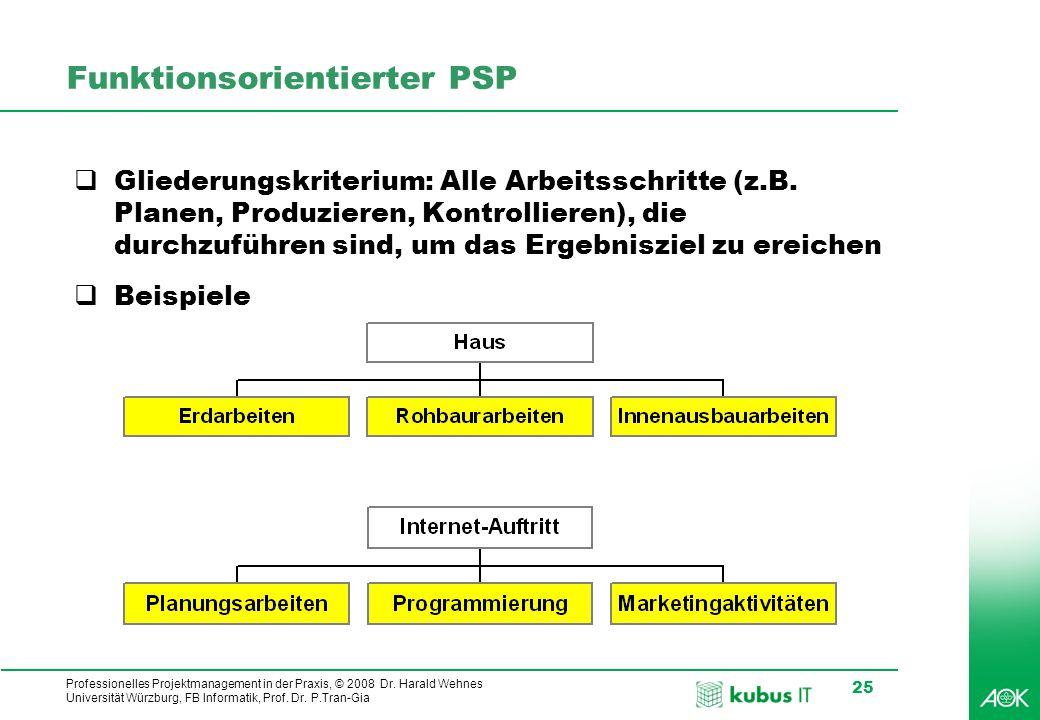 Funktionsorientierter PSP