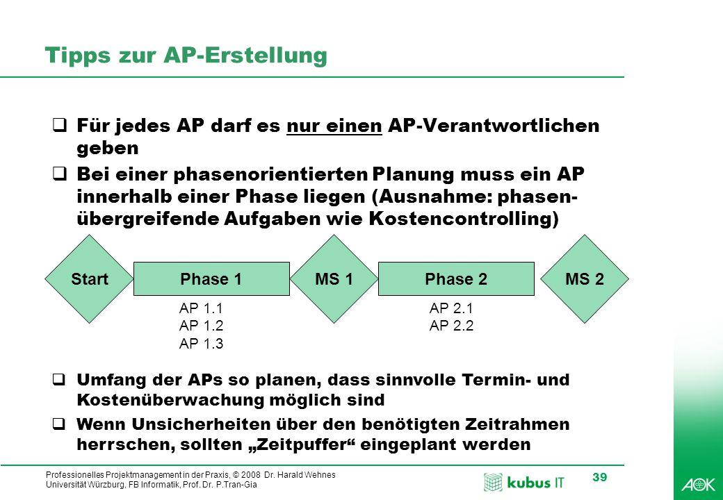 Tipps zur AP-Erstellung