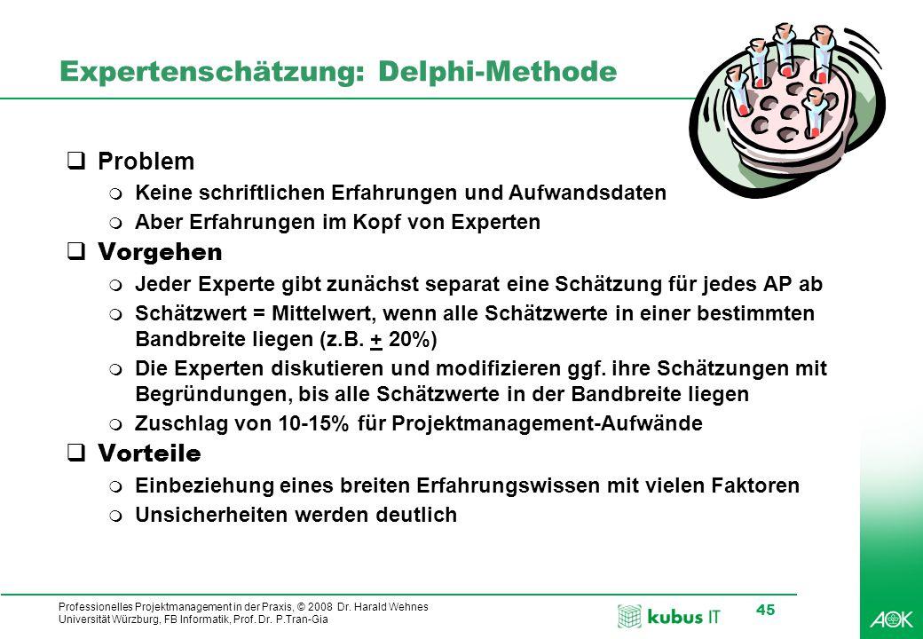 Expertenschätzung: Delphi-Methode