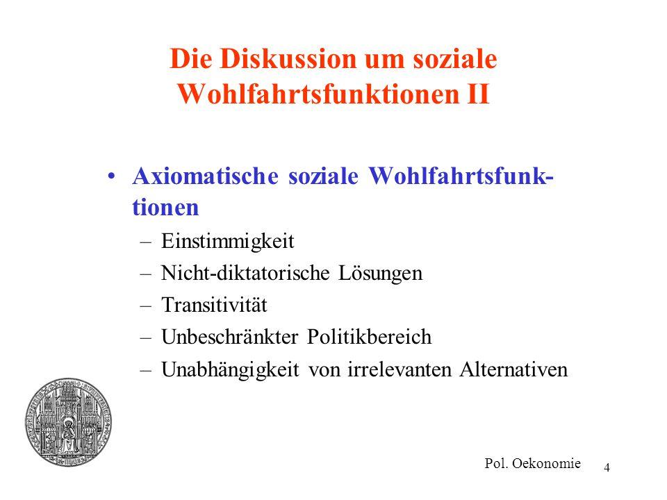 Die Diskussion um soziale Wohlfahrtsfunktionen II