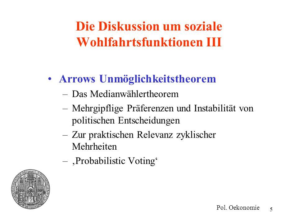 Die Diskussion um soziale Wohlfahrtsfunktionen III