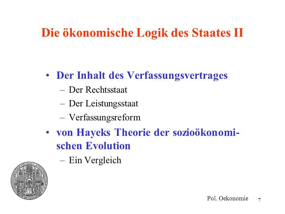 Die ökonomische Logik des Staates II