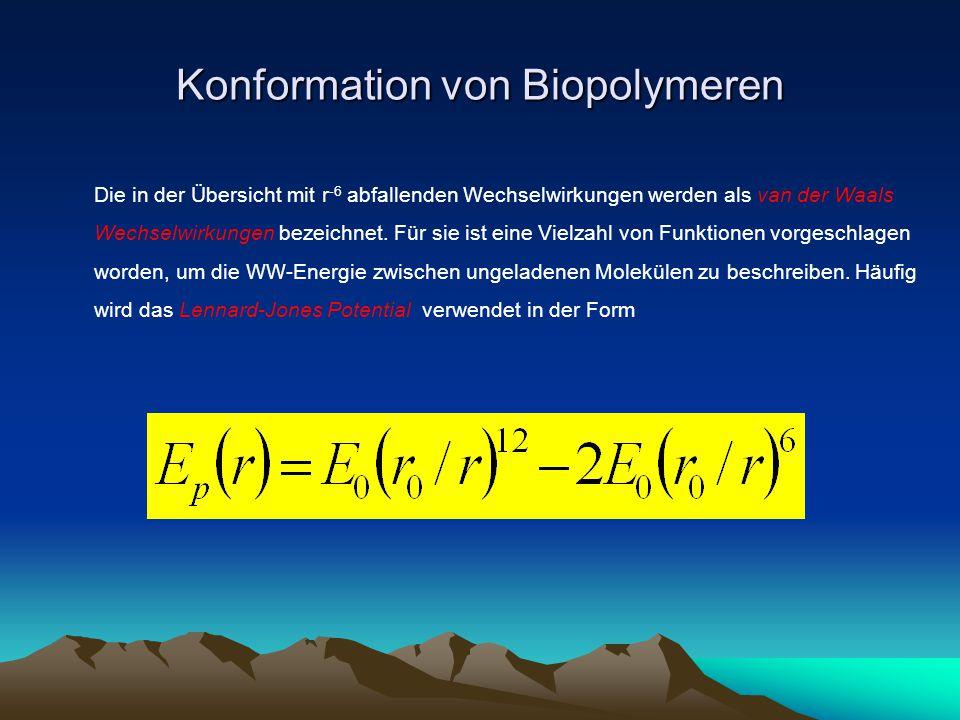 Konformation von Biopolymeren