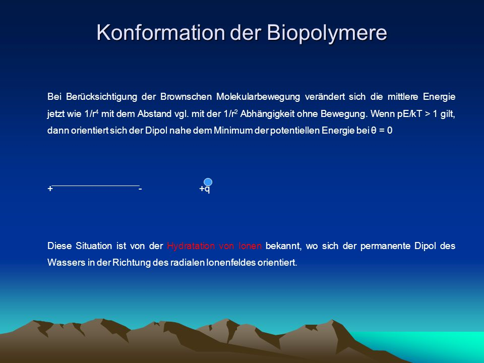 Konformation der Biopolymere
