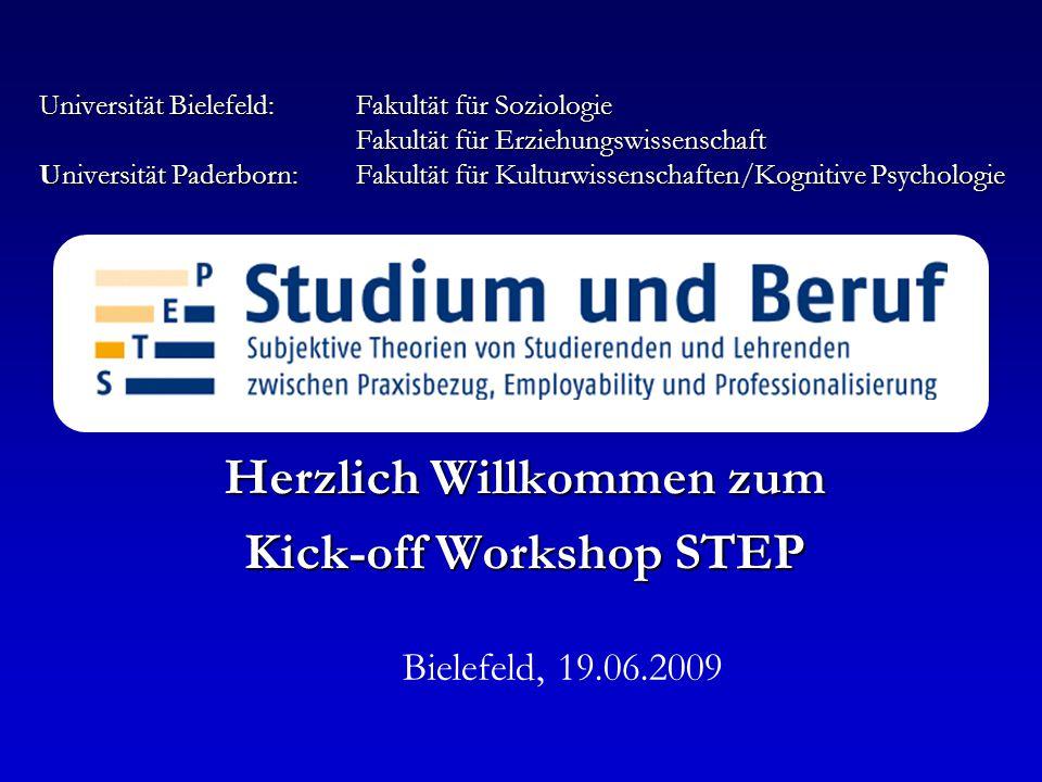 Herzlich Willkommen zum Kick-off Workshop STEP
