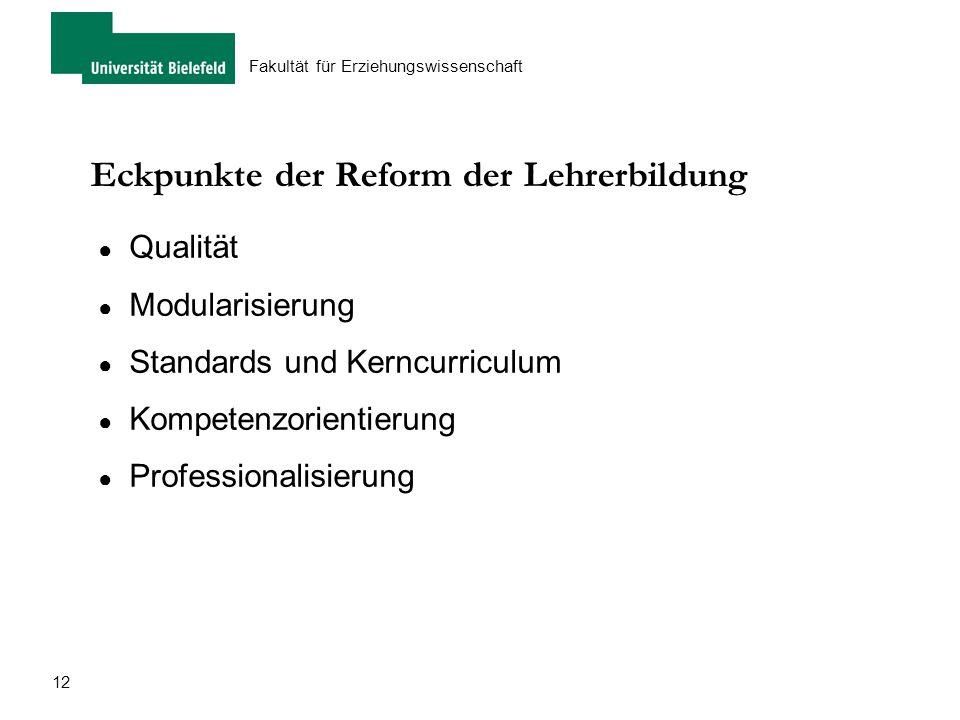 Eckpunkte der Reform der Lehrerbildung