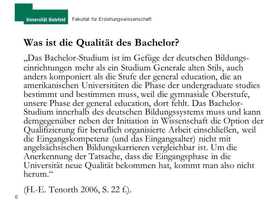 Was ist die Qualität des Bachelor