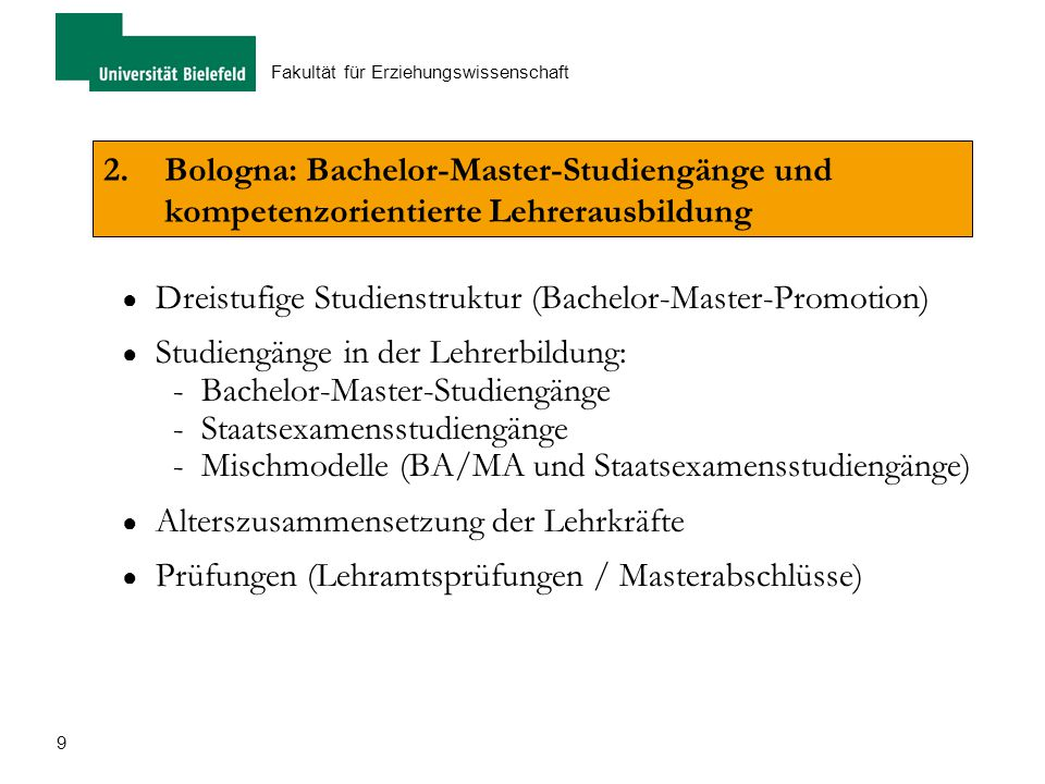 Dreistufige Studienstruktur (Bachelor-Master-Promotion)