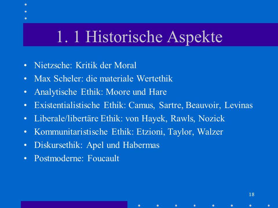 1. 1 Historische Aspekte Nietzsche: Kritik der Moral