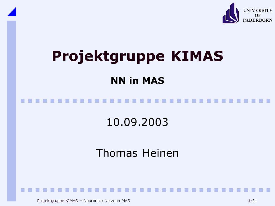 Projektgruppe KIMAS NN in MAS