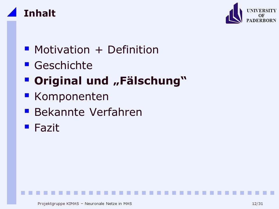 """Motivation + Definition Geschichte Original und """"Fälschung"""