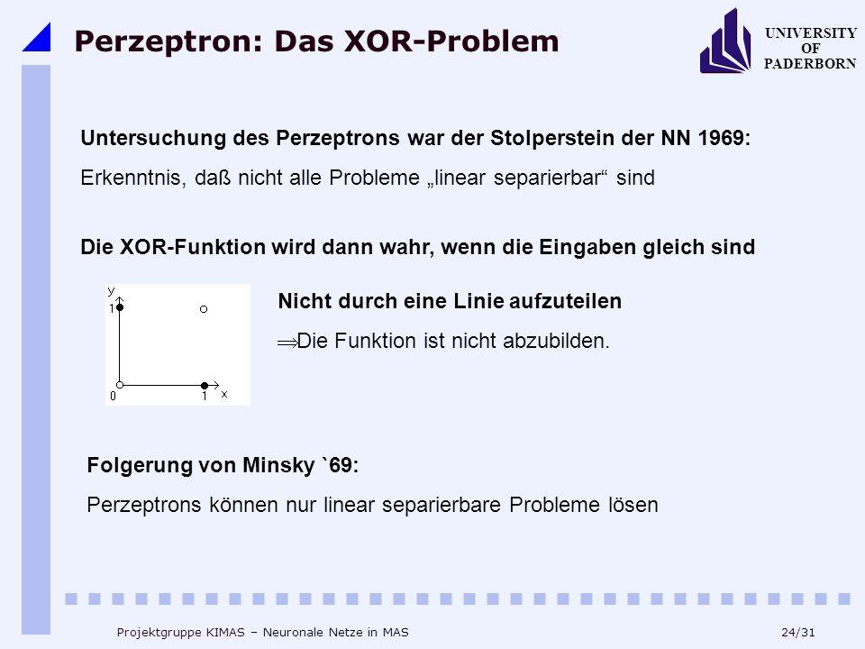 Perzeptron: Das XOR-Problem