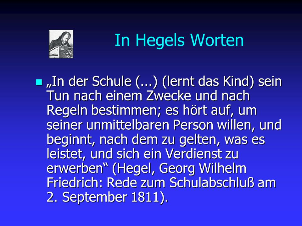 In Hegels Worten