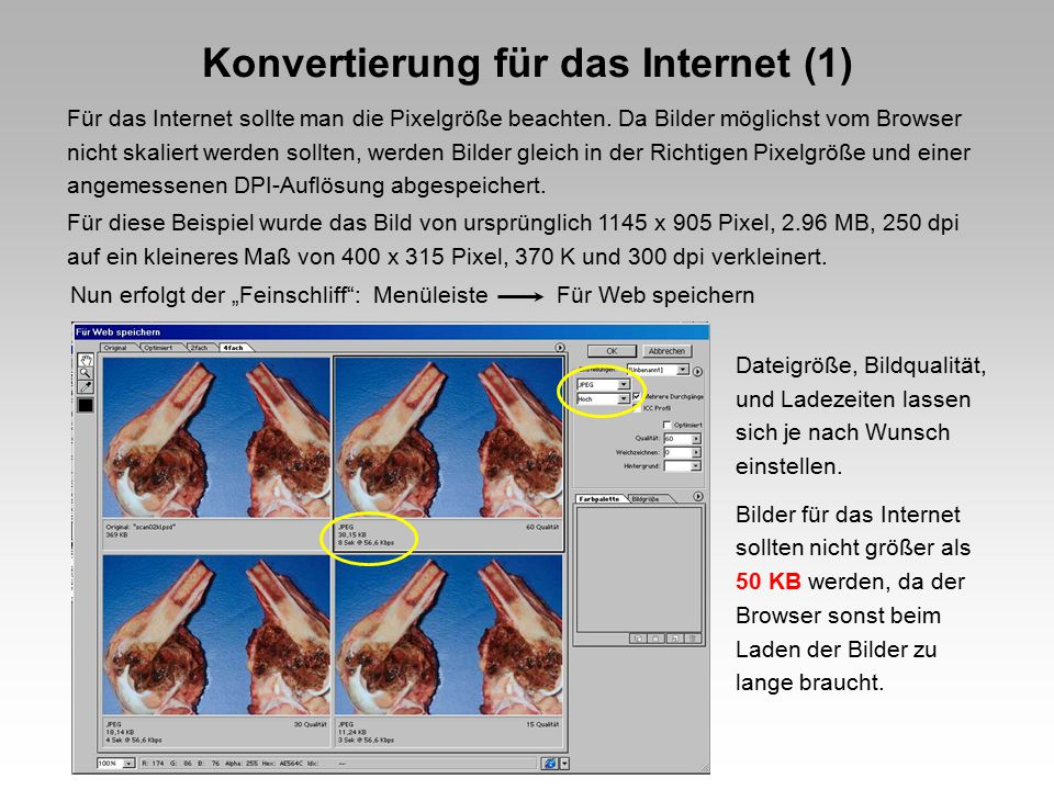 Konvertierung für das Internet (1)