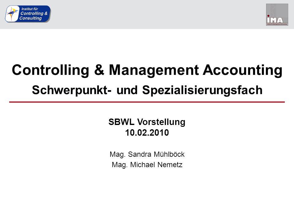 Controlling & Management Accounting Schwerpunkt- und Spezialisierungsfach