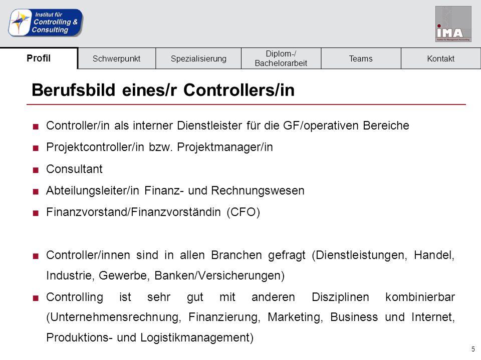 Berufsbild eines/r Controllers/in