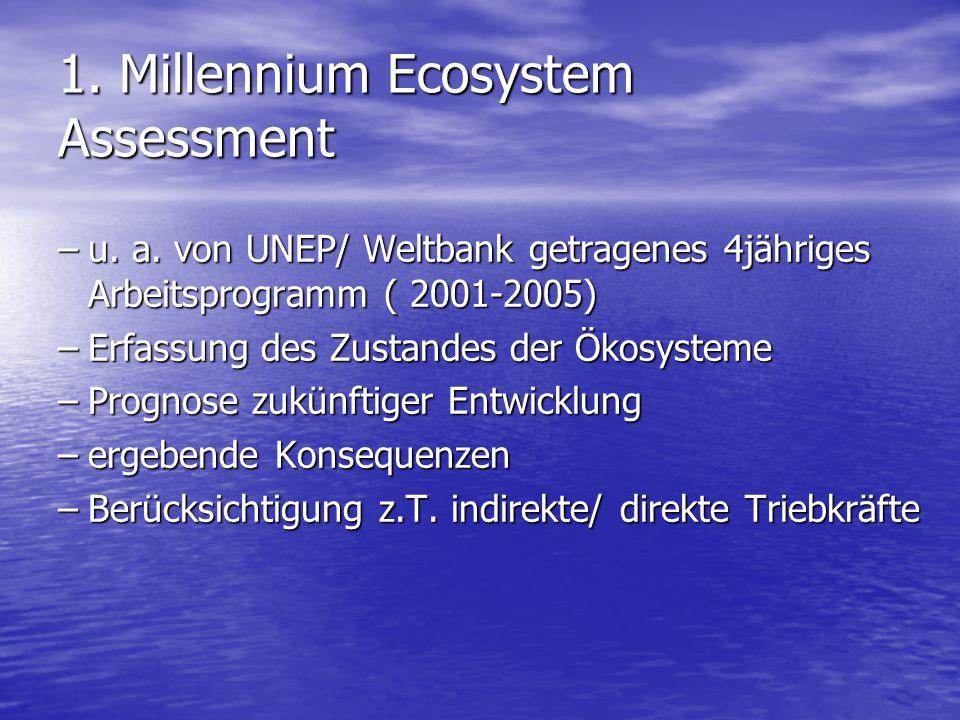 1. Millennium Ecosystem Assessment
