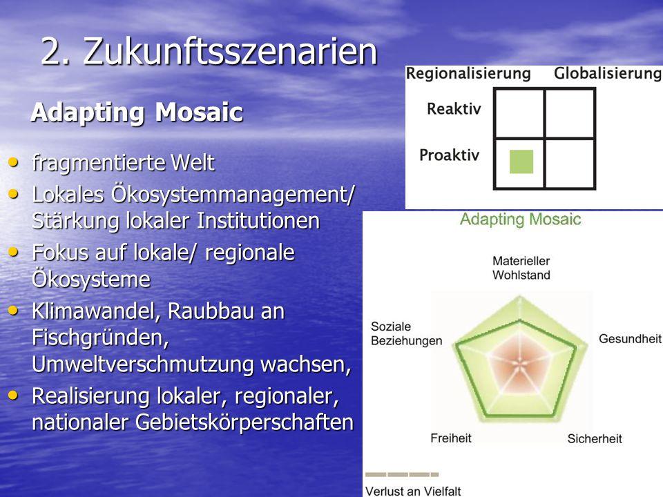 2. Zukunftsszenarien Adapting Mosaic fragmentierte Welt