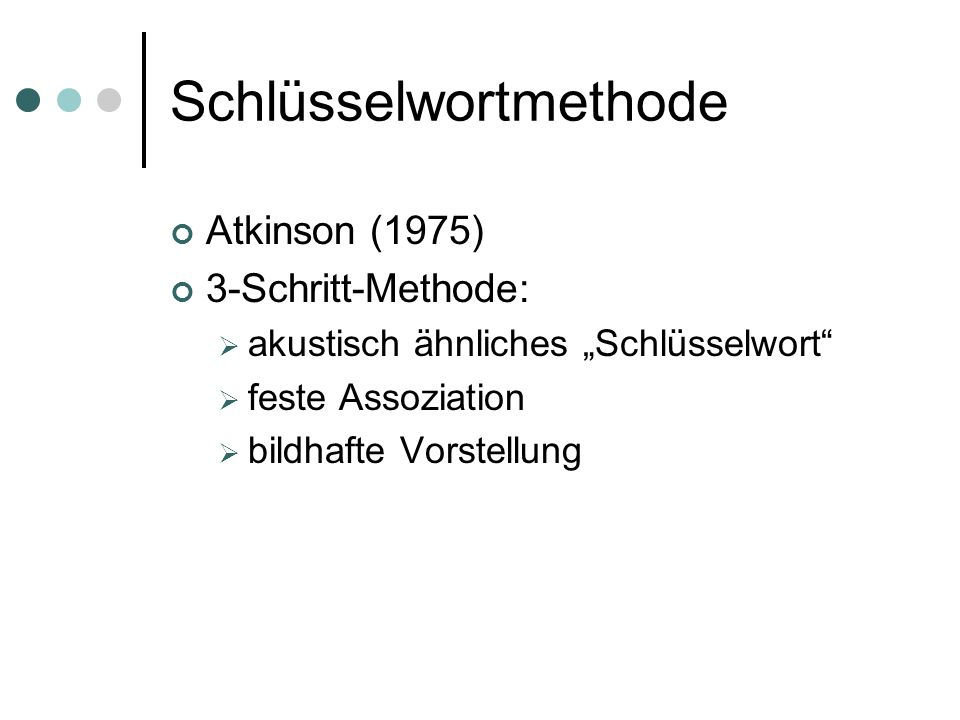 Schlüsselwortmethode