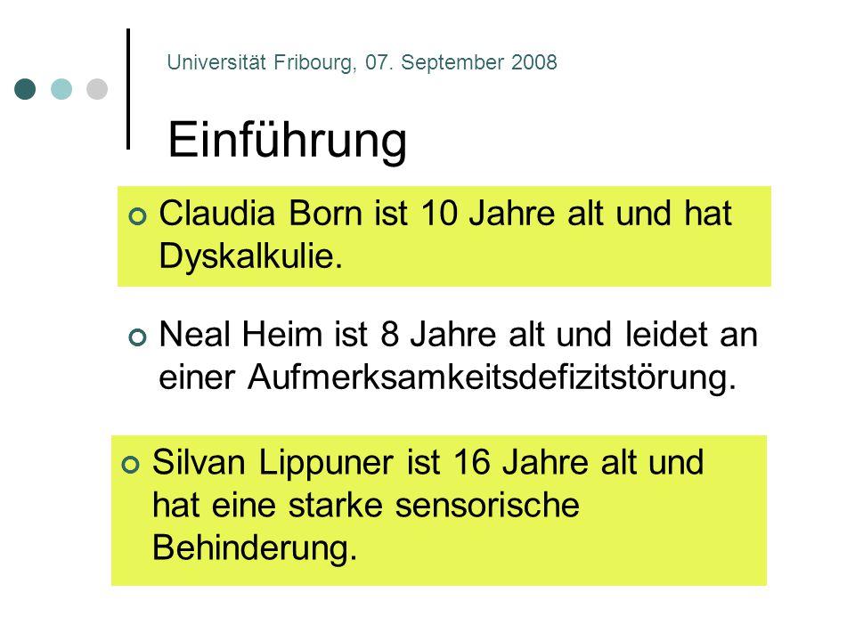 Einführung Claudia Born ist 10 Jahre alt und hat Dyskalkulie.