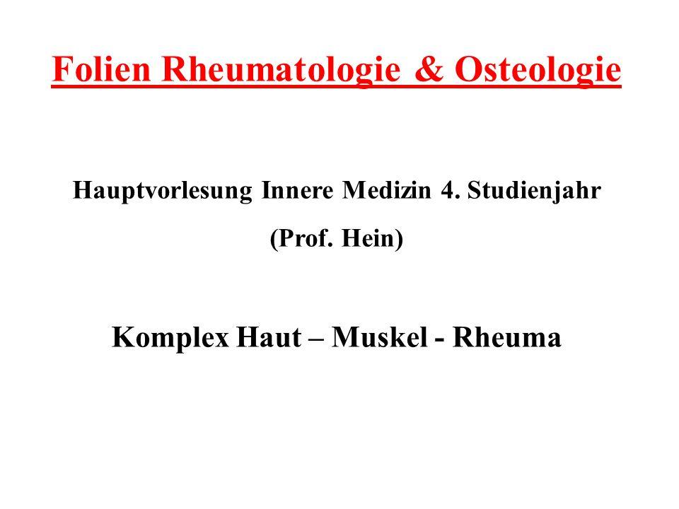 Folien Rheumatologie & Osteologie