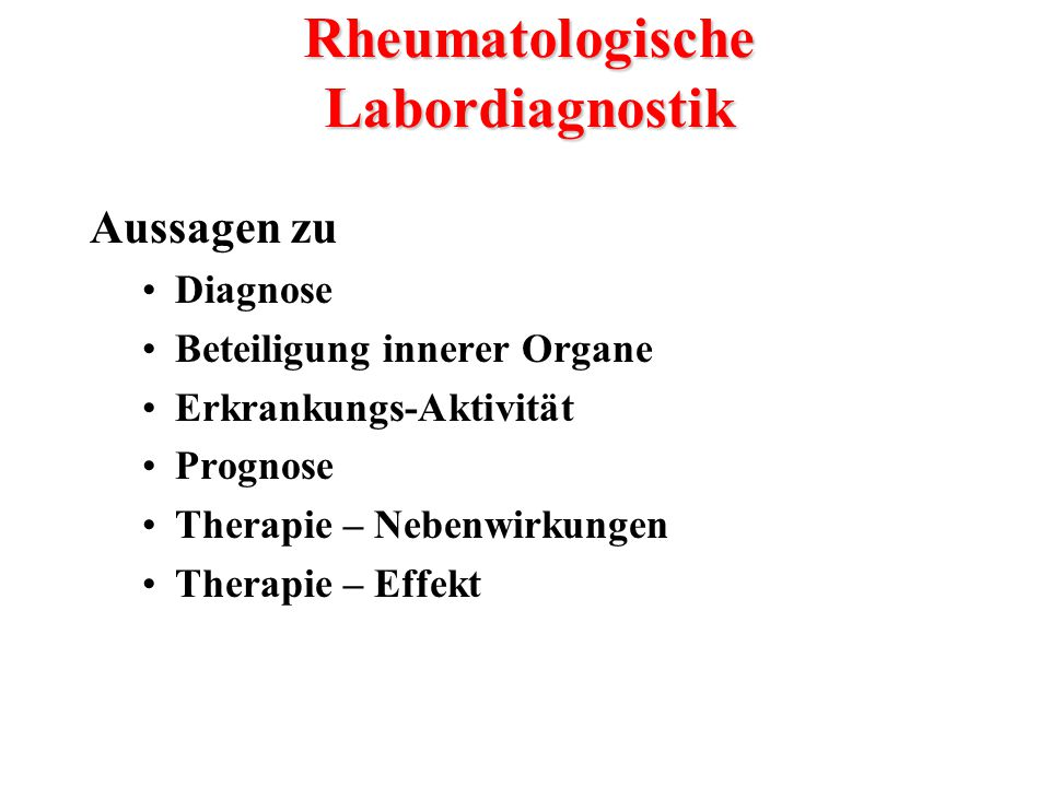 Rheumatologische Labordiagnostik